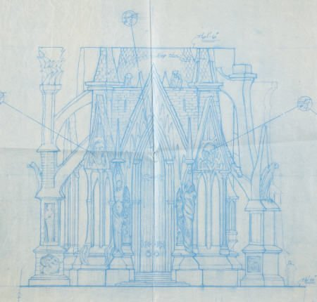 49009: Batman Returns (1992) Set Design Blueprint.