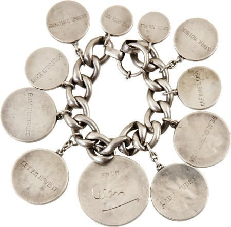 49017: Alice Brady Coin Bracelet Engraved w Film Titles
