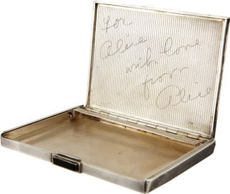 49019: Alice Faye Cigarette Case Gift to Alice Brady
