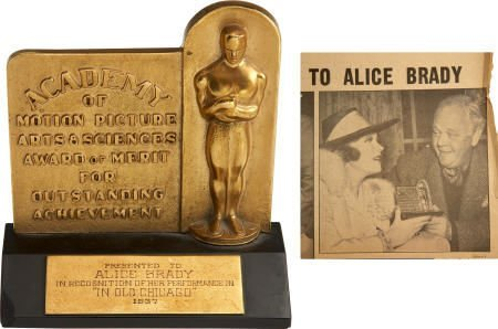 "49022: Alice Brady's 1937 Oscar for ""In Old Chicago"""