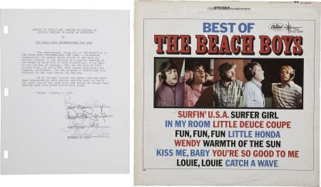 50003: Beach Boys Autographs (1967).