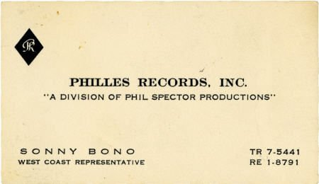 50004: Sonny Bono Business Card.