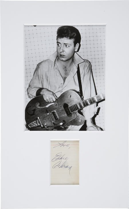 50011: Eddie Cochran Autograph with Photo.