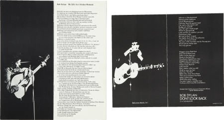 50016: Bob Dylan Promotional Brochure Group of 2