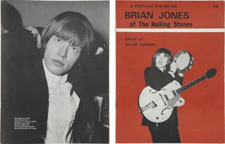 50024: Brian Jones Signed Fan Magazine (1964)