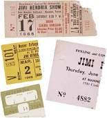 51112 Jimi Hendrix Concert Ticket Stubs 196869