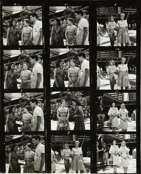 50299: Elvis Presley Blue Hawaii Photo Contact Sheets.