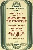 51194 Jimi HendrixJames Taylor 1970 Concert Poster