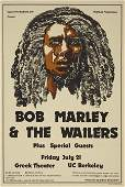 51211 Bob MarleyGreek Theater Concert Poster 1978