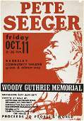 51230 Pete Seeger Concert Poster For Woddy Guthrie 68