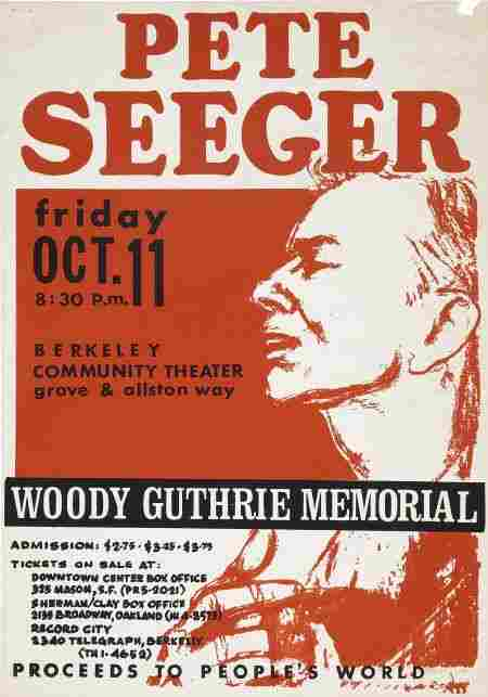 51230: Pete Seeger Concert Poster For Woddy Guthrie '68