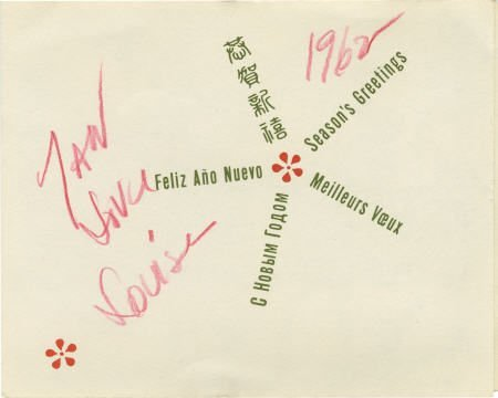 52005: Louise Brooks Signed Card.