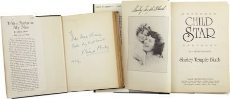 52006: Billie Burke and Shirley Temple Signed Books