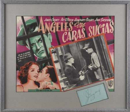 52008: James Cagney Autograph with 1938 Lobby Card