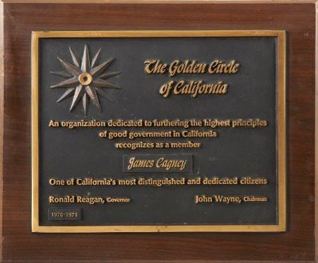 52009: James Cagney Award Plaque.