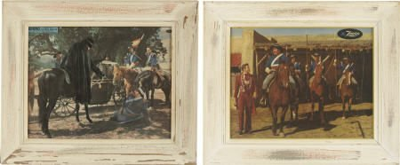 "52012: Henry Calvin Framed ""Zorro"" Puzzles"