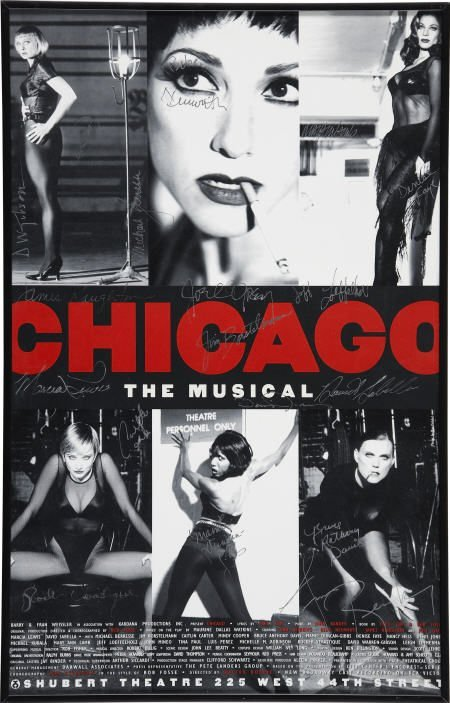 52013: Chicago Cast-Signed Poster.