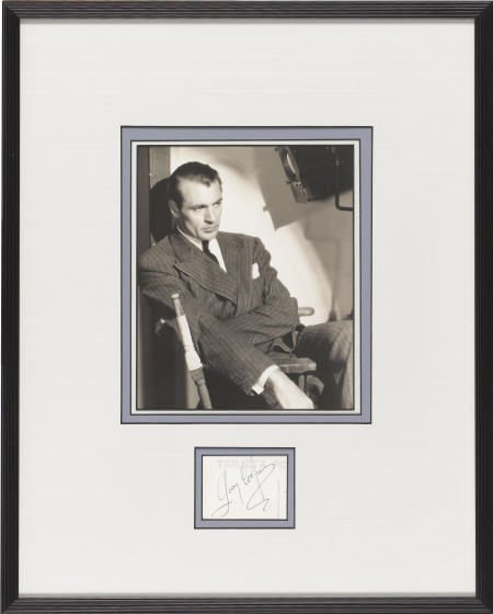 52017: Gary Cooper Autograph with Photo.