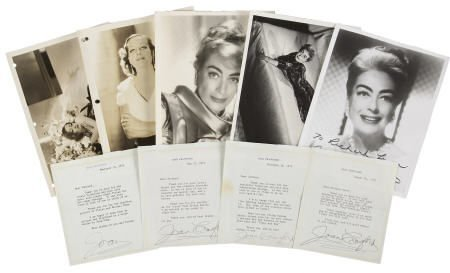52019: Joan Crawford Signed Letters and Photos.