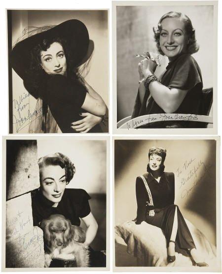 52020: Joan Crawford Vintage Signed Photos.