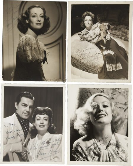 52021: Joan Crawford and Others Signed Photos.