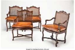 28219: A Set of Four Continental Louis XV-Style Walnut