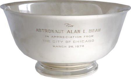 41004: Alan Bean Sterling Revere Bowl- City of Chicago