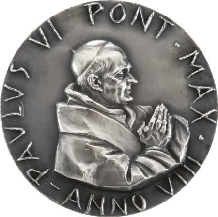 41005: Pontifical Medal From Pope Paul VI to Alan Bean