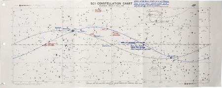 41008: Gemini 9A Flown Constellation Chart- Cernan