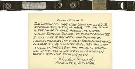 41204: Apollo 12 LM Flown Stowage Strap Pete Conrad