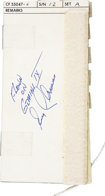 41012: Gemini 9A Flown EVA Checklist- Cernan