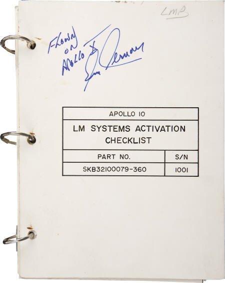 41016: Apollo 10 LM Flown Checklist- Gene Cernan