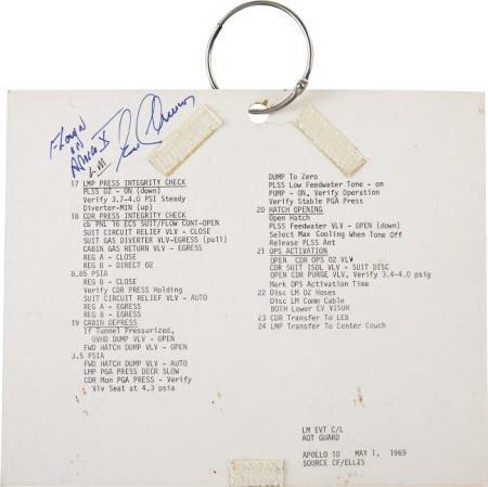 41017: Apollo 10 LM Flown Contingency EVA LM Checklist