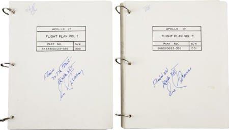 41020: Apollo 17 CM Flown Flight Plan Vols 1 & 2 Cernan