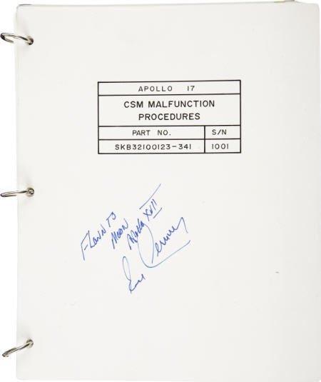 41021: Apollo 17 CM Flown CSM Malfunction Book Cernan
