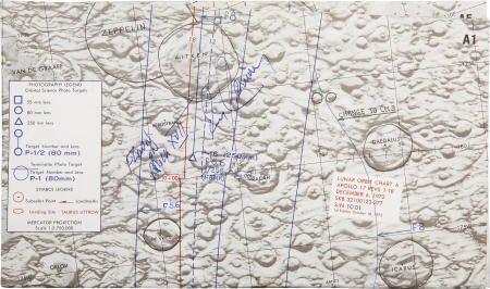 41023: Apollo 17 CM Flown Lunar Orbit Chart Cernan