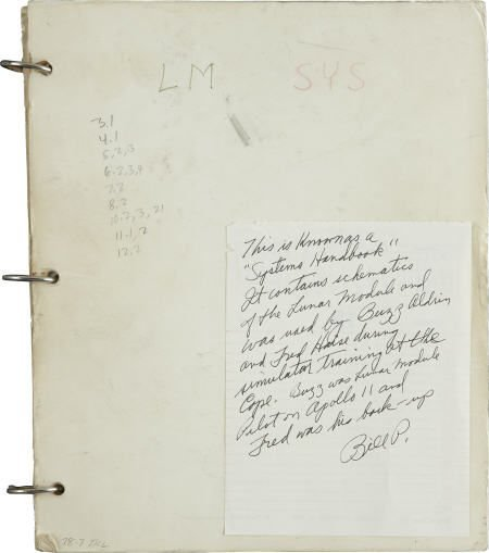 41175: Apollo Aldrin & Haise-used LM Manual- Bill Pogue