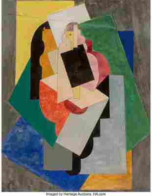 77001: Albert Gleizes (1881-1953) Danseuse, 1923 Gouach