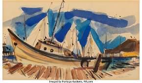 77146: Wayne Thiebaud (b. 1920) Untitled (Sausalito Doc
