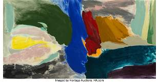 77082: Friedel Dzubas (1915-1994) Above-Below, 1983 Acr
