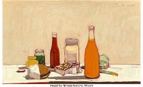 77021: Wayne Thiebaud (b. 1920) Orange Drink, 1961 Oil