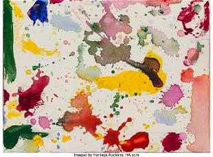 77041: Sam Francis (1923-1994) Untitled, 1989 Acrylic o