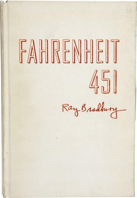 90005: Ray Bradbury. Fahrenheit 451. Asbestos binding.