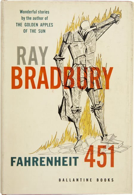 90007: Ray Bradbury. Fahrenheit 451. 1st ed.