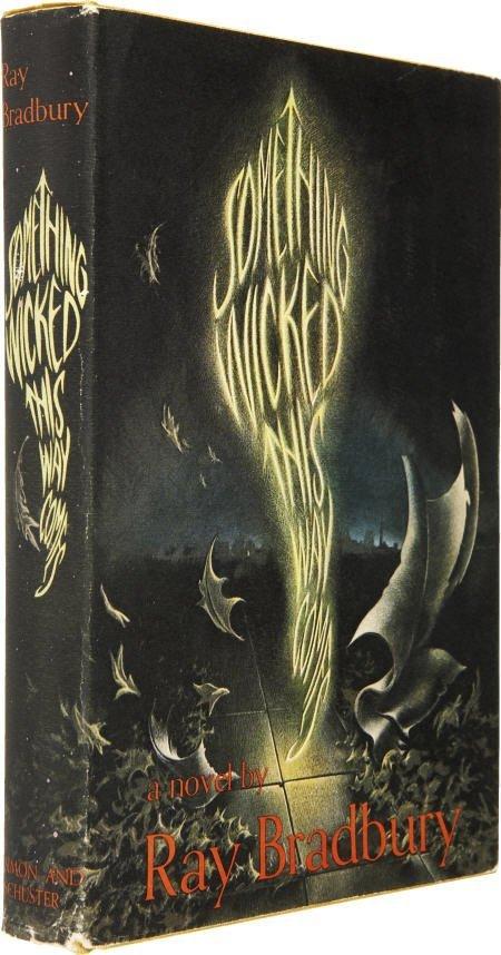 90017: Ray Bradbury. Something Wicked w Signed postcard