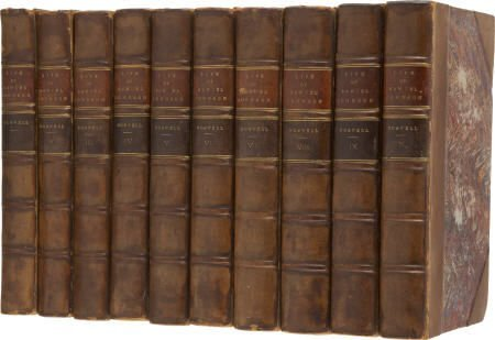 92014: James Boswell. Life of Samuel Johnson, 10 vols.