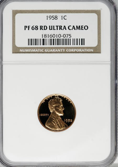 251: 1958 1C PR68 Red Ultra Cameo NGC.