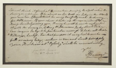 35010: Patrick Henry Autograph Letter Signed