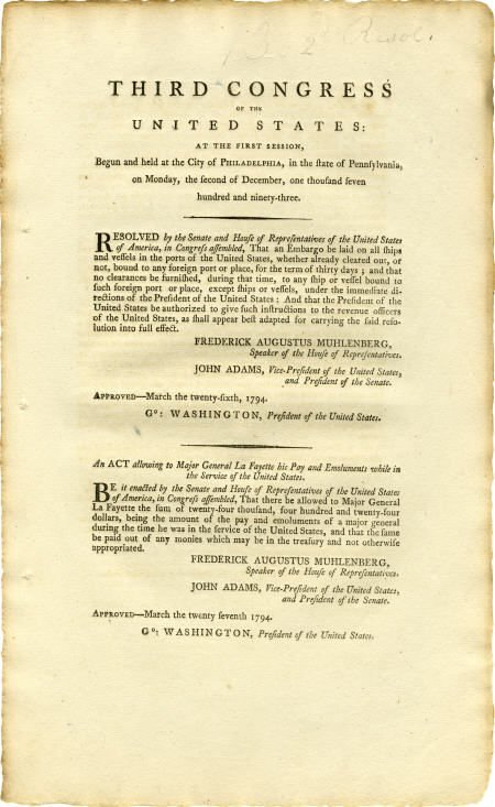35012: A Resolution and Act of the Third Congress