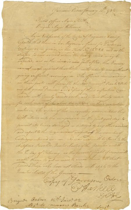 35019: Securing Powder at West Point Document